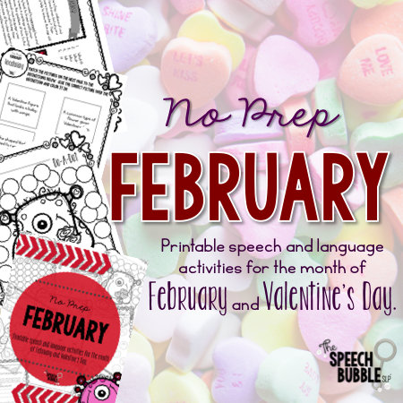 No Prep February and Valentine's Day