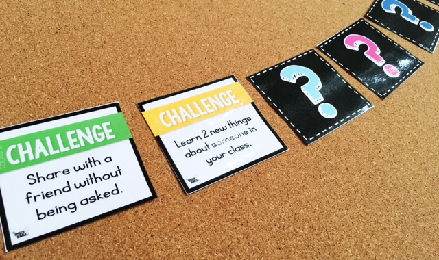 The Social Challenge game challenge card examples the speech bubble slp