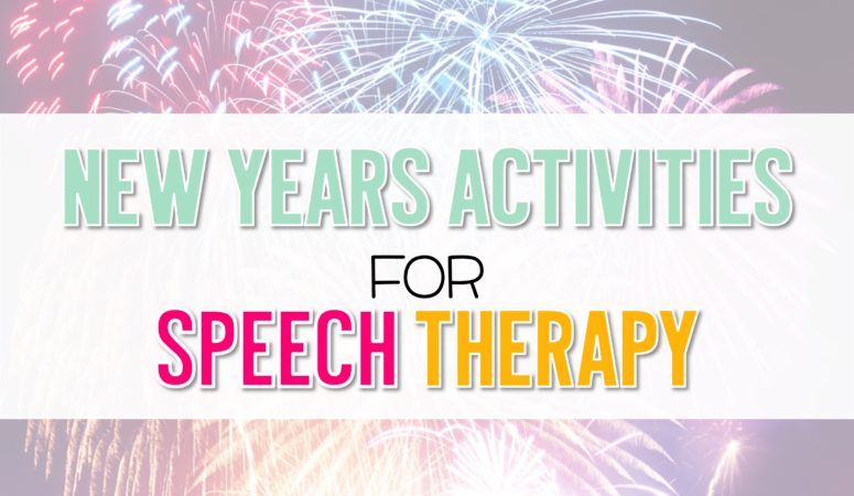 New Years Activities for Speech
