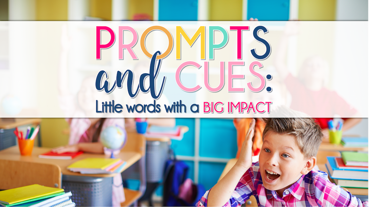 prompts and cues little words with a big impact the speech bubble slp