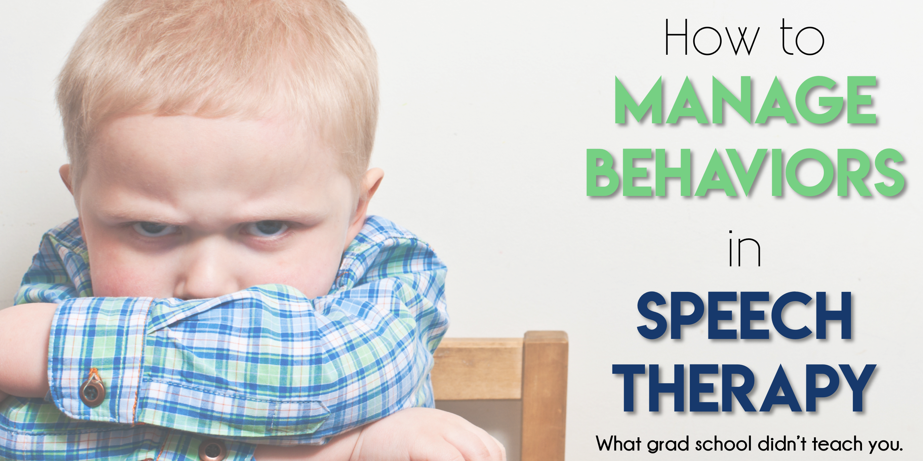 Behavior Management in Speech Therapy - The Speech Bubble