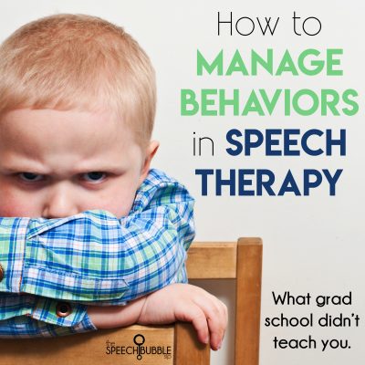 Behavior Management in Speech Therapy