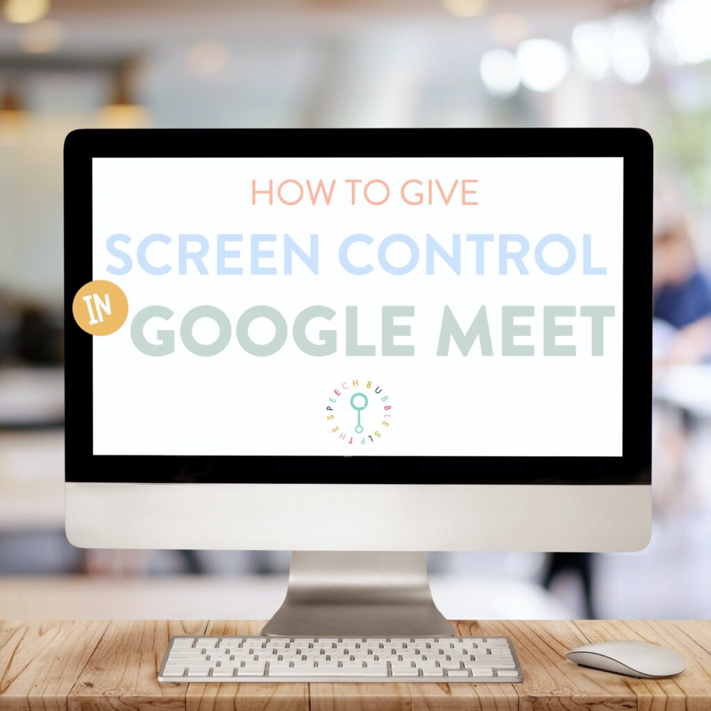 Google Meets for Speech Therapy.