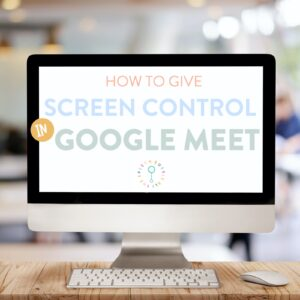 how to give screen control in Google meet